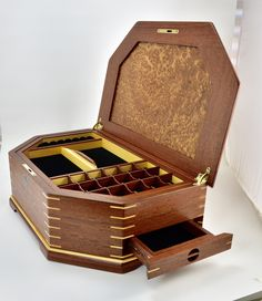 Jewelry Box from Anthony Hoffrichter - Brusso Hardware Jewelry Box Hardware, Box Art, Art Boxes, Box Maker, Studio Furniture, Wood Boxes, Woodworking, Antiques, Australia