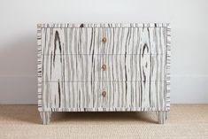 Cerused Side Chest - Bungalow Classic