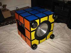 gadget rubik's cube sub-woofer