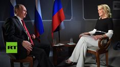 Sunday, June Russian President Vladimir Putin talks with Megyn Kelly during her debut interview for NBC. Kelly asks Putin: & you have something on our president? Megyn Kelly, Female Heroines, Nbc Series, Funny Home Videos, Oliver Stone, Florida Georgia Line, Alex Jones, Our President, Journaling