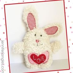 Here's my Little Love Bunny sewing pattern sewn up in a furry fabric. I added a felt heart with a little embroidery. It would be fun to stitch a little ones name here as well. Do you like to sew in plush fabrics or do you like to stick with quilting cottons? . . . . . . . . #littlelovebunny #littlelovebunnypattern #jenniferjangles #jenniferjanglespattern #patterndesigners #patternesigner #licenseddesigner #artlicensing #jenniferheynen #plushanimals #plushanimals #bunnystagram #softiedesigner