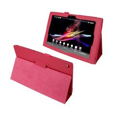 Simple (Hot Pink) Sony Xperia Tablet Z 10.1 Leather Flip Case