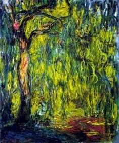 Weeping Willow, 1918–1919, impressionist.  Claude Monet (1820–1910).