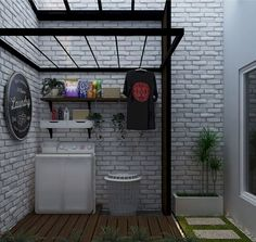 Cool 30 Charming Small Laundry Room Design Ideas For You. Outdoor Laundry Rooms, Tiny Laundry Rooms, Laundry Room Bathroom, Laundry Room Storage, Small Laundry Area, Laundry Rack, Bathroom Small, Laundry Room Design, Home Room Design