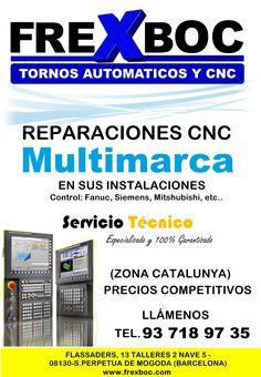 Reparación torno cnc, reparación centro de mecanizado, reparaciones tornos cnc, servicio técnico cnc, sat cnc, sat centro mecanizado, Cnc, Barcelona, Tech Support, Centre, Barcelona Spain
