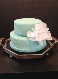 Tow Tired Birthday Cake with Wafer Paper Flower Wafer Paper, Paper Flowers, Birthday Cake, Cakes, Desserts, Pies, Tailgate Desserts, Deserts, Cake Makers