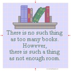 The honest truth. And I have no more room. Which is why I have a Kindle. Having an e-reader does *not* mean a person hates 'real books.' Thank you.