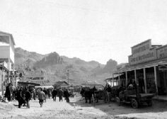 """""""Vintage Photo"""" Oatman, Arizona - Ghost town along Historic Route Route 66 Arizona, Arizona Usa, Road 66, Road Trip, Haunted Places, Abandoned Places, Great Places, Places To See, Arizona Ghost Towns"""