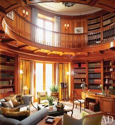 I love the two-story libraries with the open window treatments. Perfect for reading books! i-m-fancy-in-my-dreams-my-future-home-board