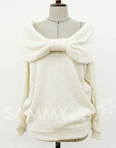 $8.89 Ladylike Slash Neck Bowknot Solid Color Long Sleeves Slimming T-shirt