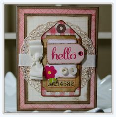 Card with tag