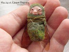 Winged baby faerie - fantasy ooak art doll fairy baby. €34.90, via Etsy.