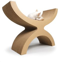 Couchette by Elizabeth Paige Smith. Industrial-strength corrugated cardboard; Nontoxic water-based glue $296