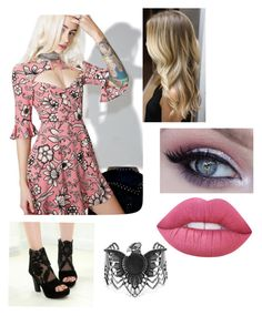 """""""Untitled #36"""" by fic-fits13 on Polyvore featuring For Love & Lemons, JY Shoes, Steve Madden and Lime Crime"""