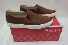 New Womens Skechers VASO Full Grain Leather Sneaker Style 48865 Cognac W78 rt    eBay