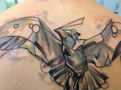 seagull tattoo by Voller Kontrast