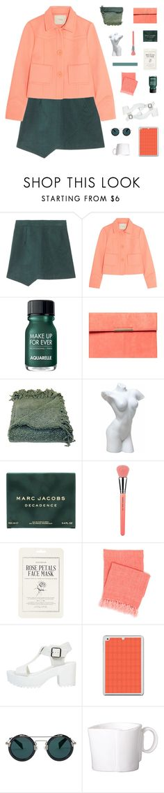"""""""dalerie"""" by ughtara ❤ liked on Polyvore featuring Maje, Aquarelle, Dorothy Perkins, Woven Workz, Marc Jacobs, Bdellium Tools, Forever 21, Pine Cone Hill, Yohji Yamamoto and Vietri"""