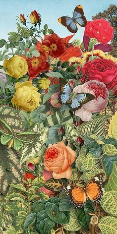 Flowers painting pattern flora 69 ideas for 2019 Deco Floral, Motif Floral, Arte Floral, Art And Illustration, Art Illustrations, Painting Patterns, Botanical Prints, Artsy, Fine Art