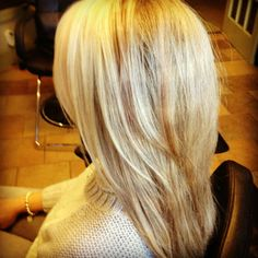 blonde highlights, long layers
