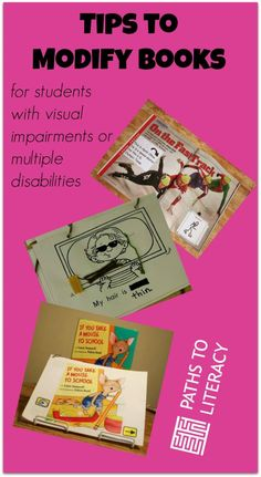 Tips to modify books for children with visual impairments or multiple disabilities
