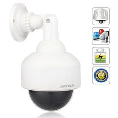 3 pack x10 airsight ptz ip camera network cam dome night vision outdoor dome fake security camera with blinking light4 pack by sunvalleytek 4599 now you can deter robbery theft and vandalism without the high cost fandeluxe Image collections