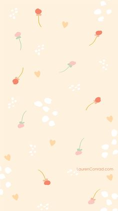 LaurenConrad.com Festive Florals iPhone Background