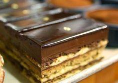 Recepti za najbolje torte i kolače: Fenomenalan Pariski kolač Gourmet Desserts, Sweet Desserts, Sweet Recipes, Food Cakes, Cupcake Cakes, Dessert Bars, Dessert Food, Cake Disney, Baking Recipes