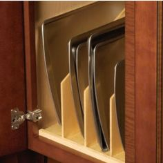 Hafele Wood Tray Divider for Kitchen Base or Tall Cabinet | KitchenSource.com
