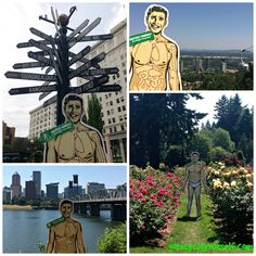 Sadly, #summer is almost behind us. Recently, Scalpel Pal got out into the sun and explored his hometown of #Portland #Oregon. Can you name all four of the locations he visited in #PDX? #GoRecycleYourself #DonateLife