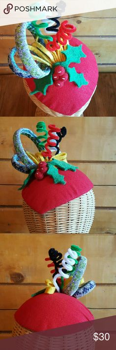 Ugly Sweater party hat fascinator Christmas OOAK #shopmycloset #poshmark #fashion #style #forsale #Accessories