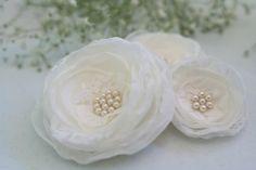 Ivory Bridal Hair Flowers