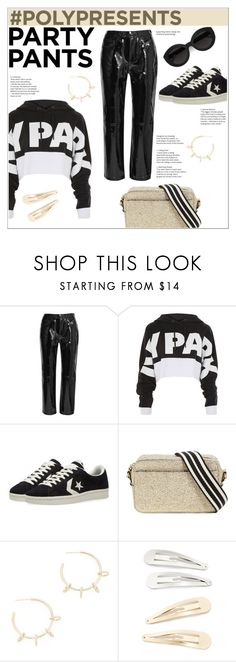 """""""#PolyPresents: Sporty glam - fancy pants."""" by zeljkaa ❤ liked on Polyvore featuring rag & bone, Ivy Park, Converse, RED Valentino, Carla Zampatti, Justine Clenquet, Kitsch, contestentry and polyPresents"""