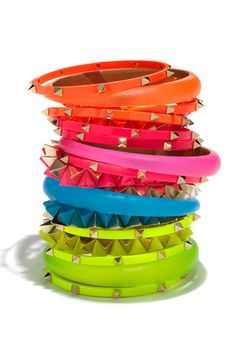 Cara Stretch Bracelets in neon colors Neon Colors, Rainbow Colors, All The Colors, Bright Colors, Summer Colors, True Colors, Summer Fun, Girls Accessories, Jewelry Accessories