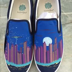 Priceless Bucket feet Men's Lollapalooza shoes These shoes are a men's 11. They were a gift for being a platinum member at Lollapalooza '15. They were my boyfriend's and he has never worn them. These shoes cannot be bought anywhere! Bucketfeet Shoes Flats & Loafers