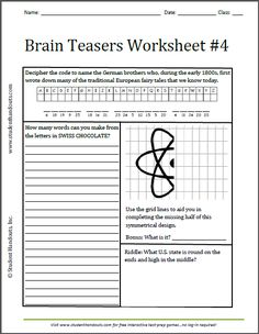 free brain teasers with answers pdf