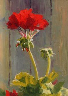 """""""Geraniums in the Afternoon Light"""" - Original Fine Art for Sale - © Susan McManamen"""