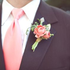 Groom in peach-pink colours