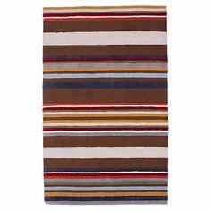 I love the Classic Stripe Rug on pbteen.com for William's bathroom
