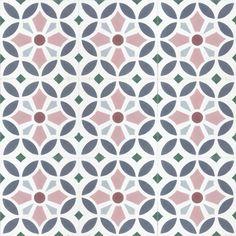 floral pattern multi-colour concrete tile - Trend Topic For You 2020 Tile Design, Pattern Design, Batik Pattern, Geometric Tiles, Encaustic Tile, Concrete Tiles, Handmade Tiles, Color Tile, Hallway Decorating