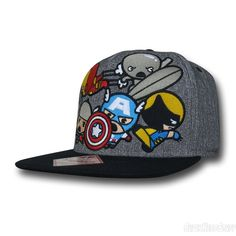 54efb1c363a Images of Marvel Kawaii Group Grey Snapback Cap Marvel Hats