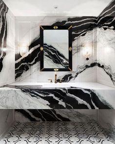 Home Design Decor, Dream Home Design, Home Interior Design, Home Decor, White Marble Bathrooms, Bathroom Design Luxury, Modern Luxury Bathroom, Luxury Homes Dream Houses, Decoration Inspiration