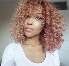 Curly Rose Gold Hair for Black Women