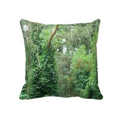 Underbrush In The Trees Pillow