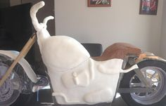 Fondant applied to the Harley Davidson Cake by our Cake Appreciation Society Member, Tanya's Cakes