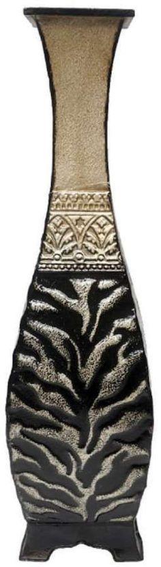 Kohl's Animal Print Metal Pedestal Table Vase