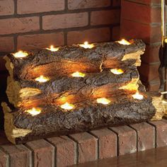Living in SoCal doesn't warrant us turning on our fireplace, but this tealight fireplace log makes it feel cozy without roasting us out of our place