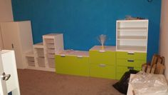 Ben's room. Ikea Stuva and Trofast furniture. B and Q Pacific paint