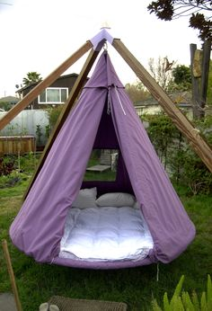 Off ground glamping.