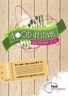 Marketing Birmingham Food Festival Poster