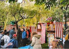 Covent Garden May Fayre and Puppet Festival. Punch and Judy Professors and Puppeteers from all over the country will be coming to perform throughout the day at St Paul's Church Garden.